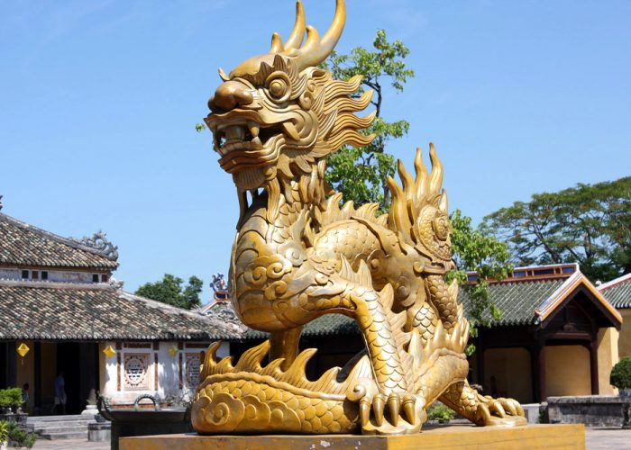 Hue - Golden Dragon at Imperial City 's Yard