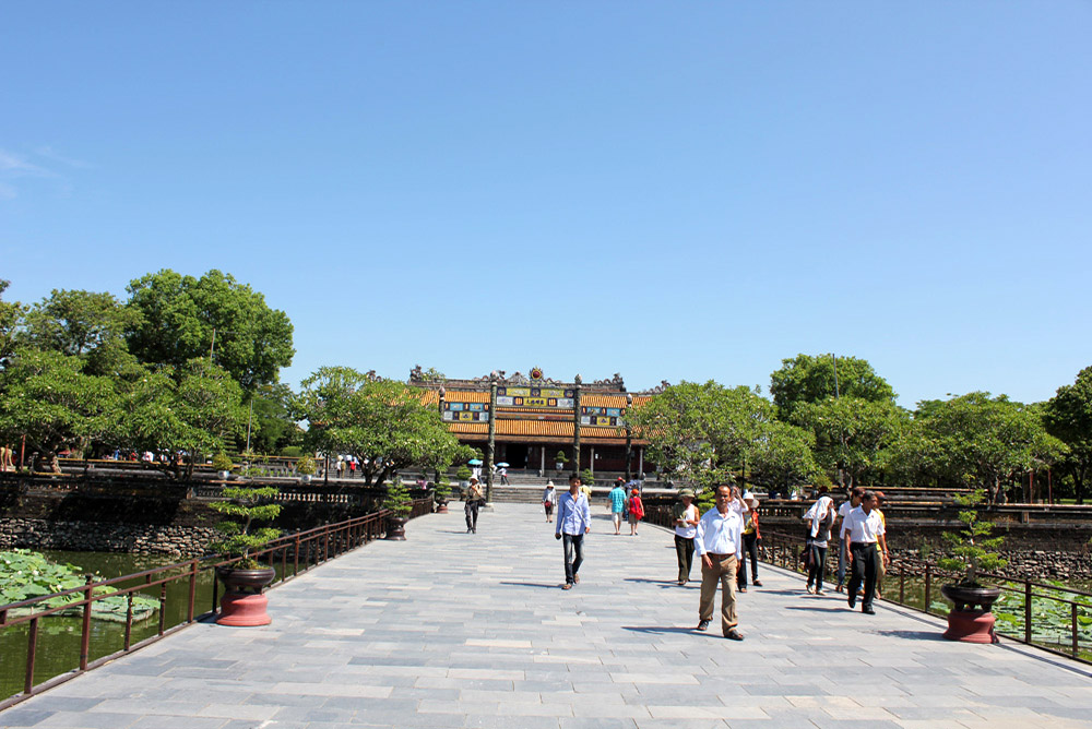 Hue - In Front of Thai Hoa Palace