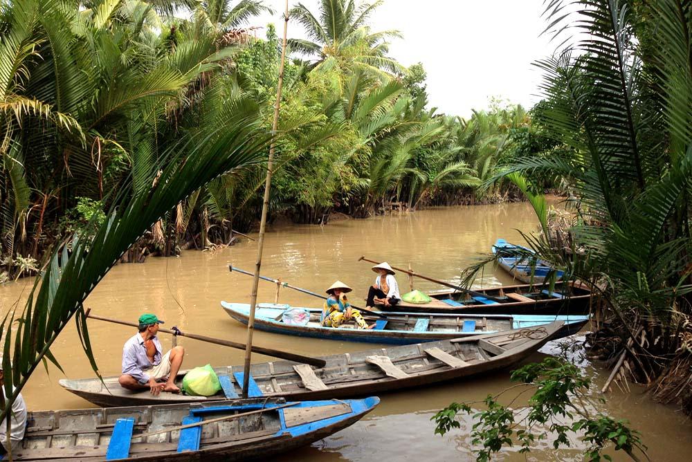 Mekong Sampan Ride Under The Palm Trees