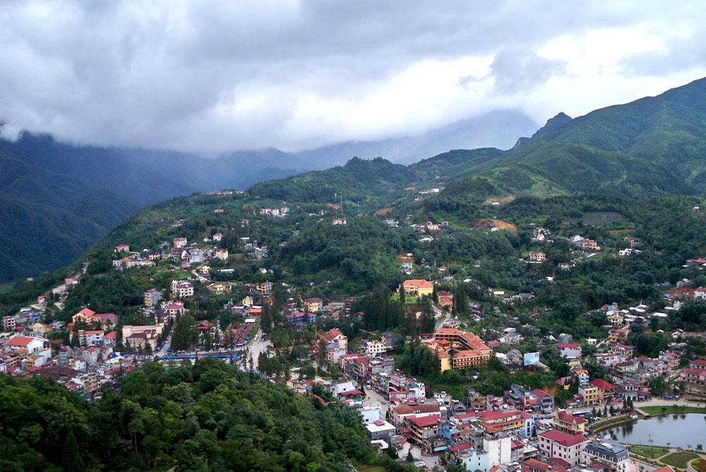 Sapa Town Panorama View