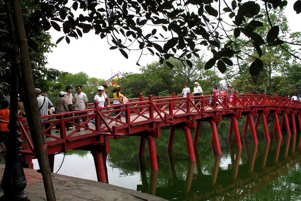 Hanoi - The Huc Red Bridge